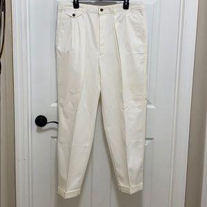Savane Men's Pants Ivory color W 36 L 29 💯 cotton
